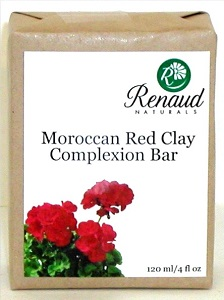 Moroccan Red Clay Complexion Bar normal to oily skin; acne prone skin