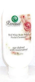 Red Wine Rose Petal Facial Cleanser age defend with Resveratrol