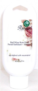 Red Wine Rose Petal 2-in-1 Exfoliant + Masque age defend with Resveratrol