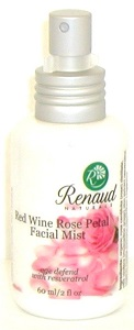 Red Wine Rose Petal Facial Mist age defend with Resveratrol