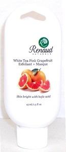 White Tea Pink Grapefruit 2-in-1 Facial Exfoliant + Masque skin bright with kojic acid