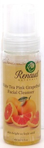White Tea Pink Grapefruit Facial Cleanser skin bright with kojic acid